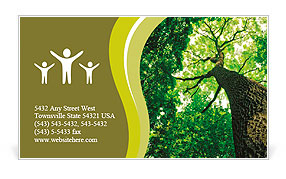 Forest trees. nature green wood sunlight backgrounds. Business Card Template