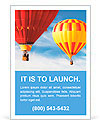 Two colorful hot air balloons floating in the sky Ad Templates