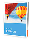 Two colorful hot air balloons floating in the sky Presentation Folder