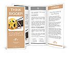 Movie film reels and cinema clapper. 3D render Brochure Templates