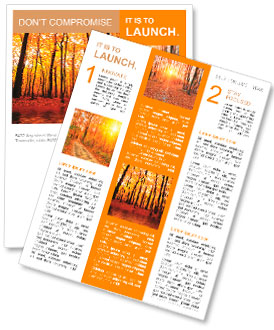autumn newsletter template smiletemplates com