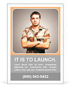 Portrait of a serious young soldier standing against a grey background Ad Template
