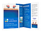 3d swimming pool with beach chairs Brochure Templates
