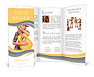 The beautiful girl in a cowboy's hat Brochure Templates