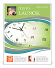 Clock face and calendar composite Flyer Template