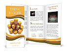 3d rendering of large stacks of gold casino chips on white background Brochure Templates
