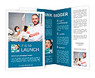 Friendly male dentist with assistant and patient at dental clinic Brochure Templates