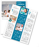 Friendly male dentist with assistant and patient at dental clinic Newsletter Template