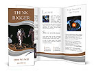 The astronaut on the background of the planet. Brochure Templates