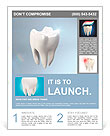 The health of white tooth for tooth care concept. Flyer Templates