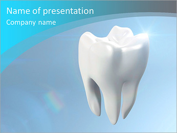 The health of white tooth for tooth care concept. PowerPoint Template