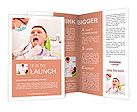 The patient in the dental chair Brochure Templates