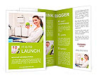 The patient with a green apple in the clinic Brochure Templates