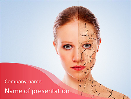 Cosmetic powerpoint template smiletemplates powerpoint templates free download concept of cosmetic effects treatment and skin care face of young woman before and toneelgroepblik Images