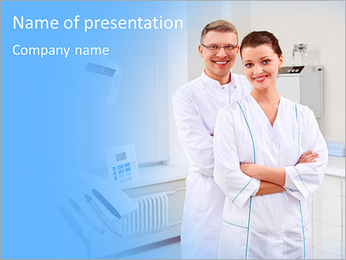 Dentists in the form at the clinic PowerPoint Template