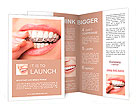 Teeth with whitening tray Brochure Templates