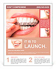 Teeth with whitening tray Flyer Template