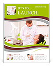 The doctor treats the patient to the teeth in the dental clinic Flyer Template