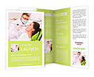 Patient on reception at the dentist Brochure Templates