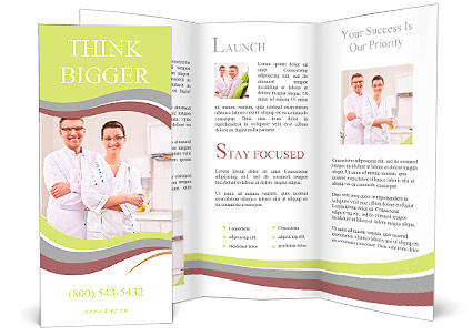 dentists in the form at the clinic brochure template - Clinic Brochure Template