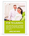 Patient on reception at the dentist Ad Template