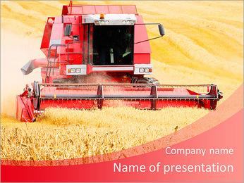 Combiner la récolte du blé. Modèles des présentations  PowerPoint