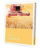Combine harvesting wheat. Presentation Folder