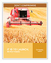 Combine harvesting wheat. Word Templates
