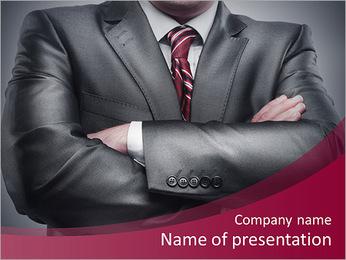 Closeup businessman suit high resolution PowerPoint Template