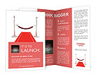 3d red carpet illustration Brochure Templates