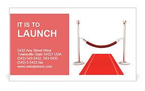 3d red carpet illustration Business Card Template