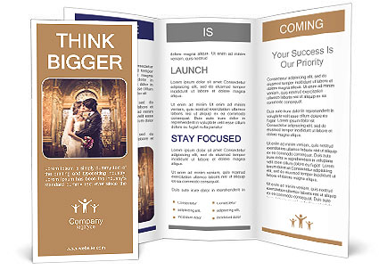 Married couple kissing in a church Brochure Template & Design ID ...