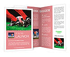 Soccer ball and feet on the football field Brochure Template