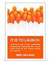 Orange balloons Ad Template