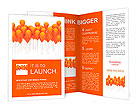 Orange balloons Brochure Templates