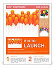 Orange balloons Flyer Template