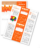 Orange balloons Newsletter Template