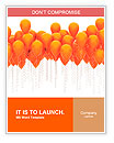 Orange balloons Word Templates