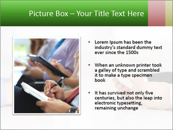 Interview. Close-up of two businesswoman around the table PowerPoint Template - Slide 13