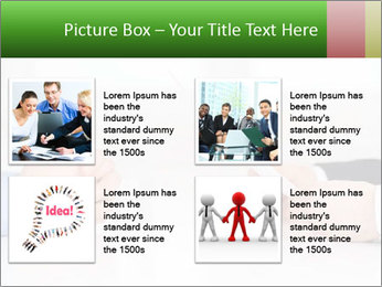 Interview. Close-up of two businesswoman around the table PowerPoint Template - Slide 14