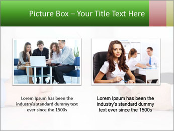 Interview. Close-up of two businesswoman around the table PowerPoint Template - Slide 18
