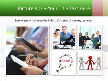 Interview. Close-up of two businesswoman around the table PowerPoint Template - Slide 19