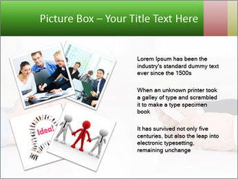 Interview. Close-up of two businesswoman around the table PowerPoint Template - Slide 23