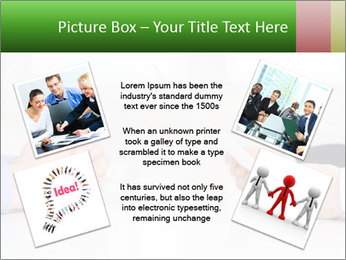 Interview. Close-up of two businesswoman around the table PowerPoint Template - Slide 24