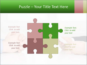 Interview. Close-up of two businesswoman around the table PowerPoint Template - Slide 43