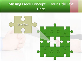 Interview. Close-up of two businesswoman around the table PowerPoint Template - Slide 45