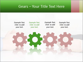 Interview. Close-up of two businesswoman around the table PowerPoint Template - Slide 48
