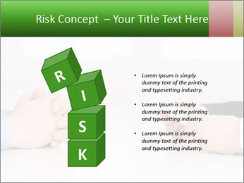 Interview. Close-up of two businesswoman around the table PowerPoint Template - Slide 81