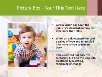 Kids playing on the floor of the childrens room PowerPoint Template - Slide 13
