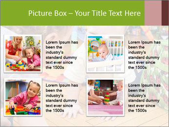 Kids playing on the floor of the childrens room PowerPoint Template - Slide 14